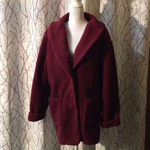 Oversized VINTAGE shearling coat